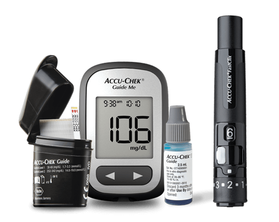 Accu-Chek Guide me family of products