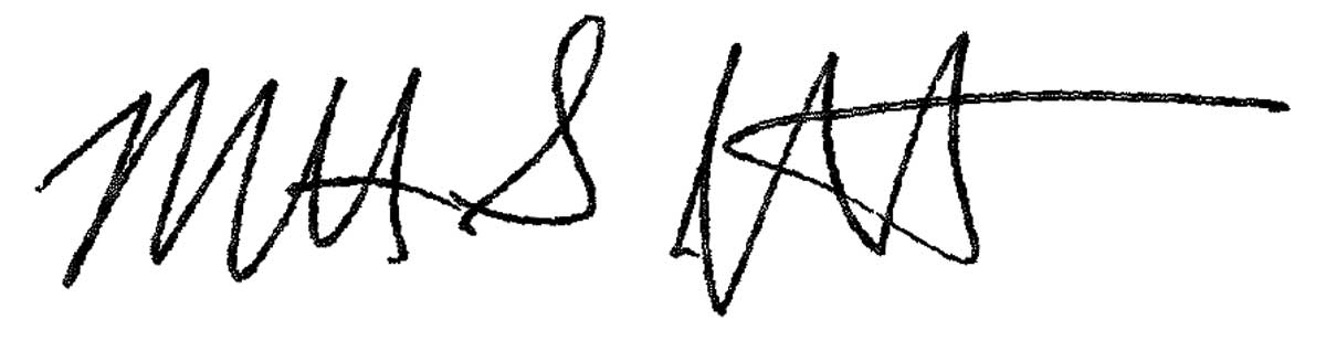 Matt Jewett's signature