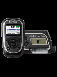 Accu-Chek Aviva Combo blood glucose meter and Accu-Chek Spirit Combo insulin pump