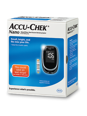 Accu-Chek Nano blood glucose meter packaging