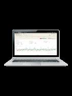 Laptop showing Accu-Chek Connect online portal